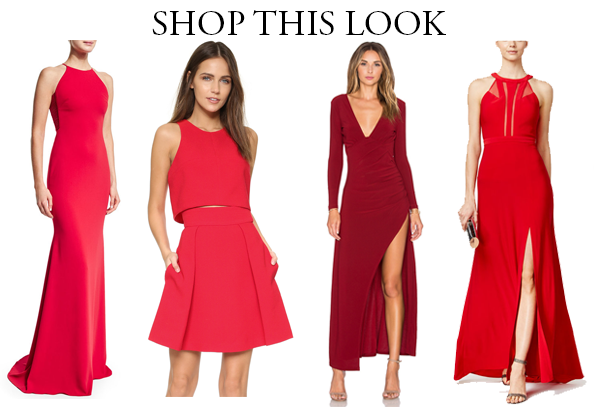 red engagement dresses