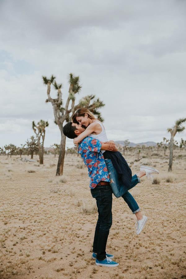 This Cali Cool Joshua Tree Engagement Is Full Of 1970s Vibes Junebug Weddings