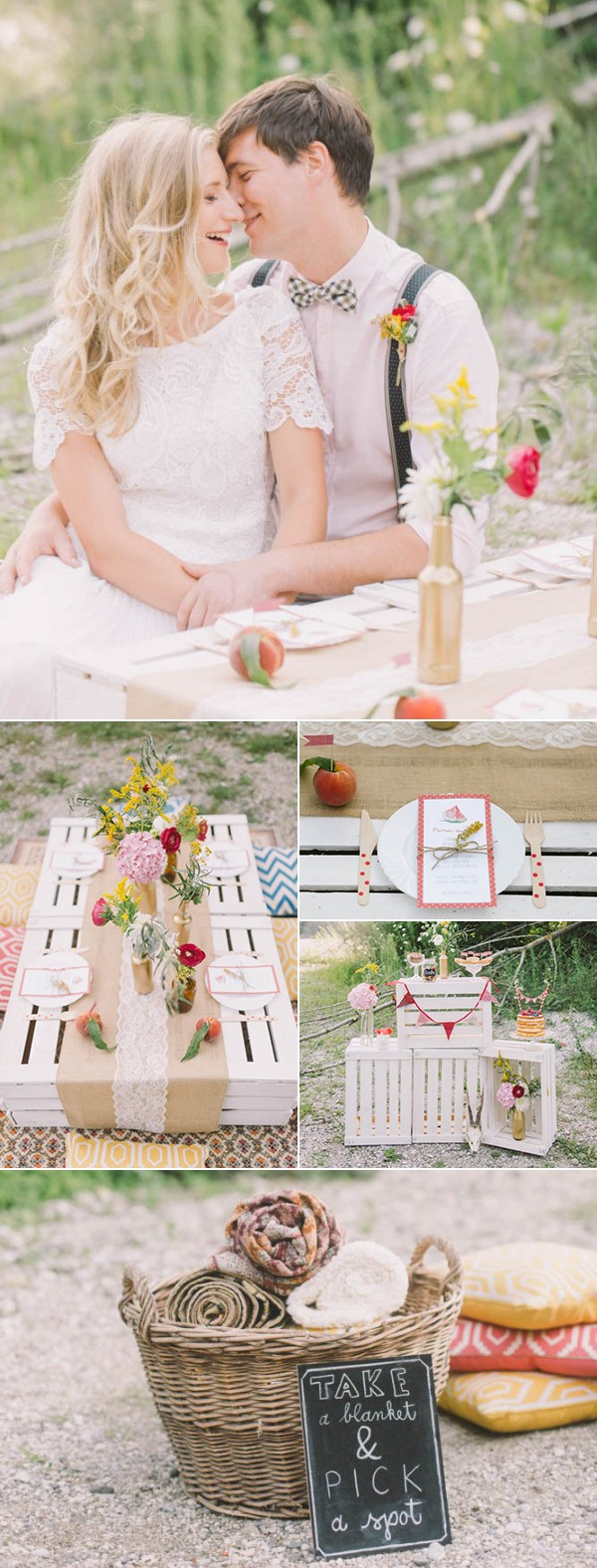 5 of Our Favorite Picnic Weddings to Inspire Your Summer Soirée | Junebug Weddings