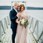 Cozy Vancouver Island Cabin Wedding at Dolphins Resort
