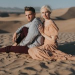 Ethereal Imperial Sand Dunes Engagement Photos
