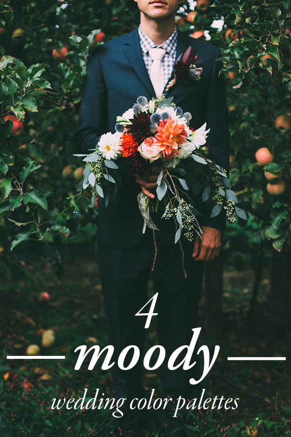 moody wedding color palettes