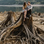 The Views are Unreal in This Breathtaking Bridal Veil Falls Engagement Shoot