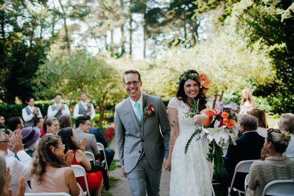 Botanical And Baby Blue Portland Wedding At Golden