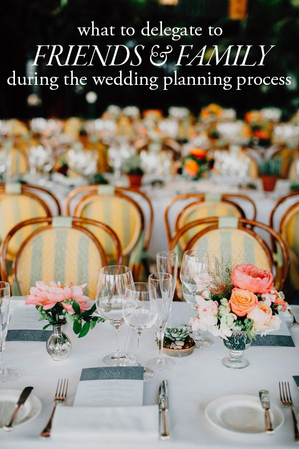 friends and family wedding planning