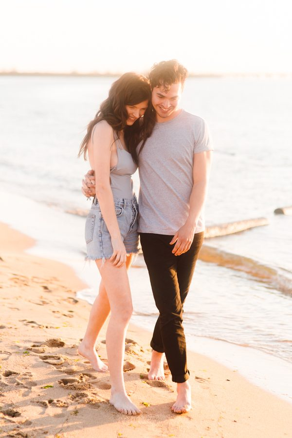 this cute couple slays in their sunset sweetheart session on kent