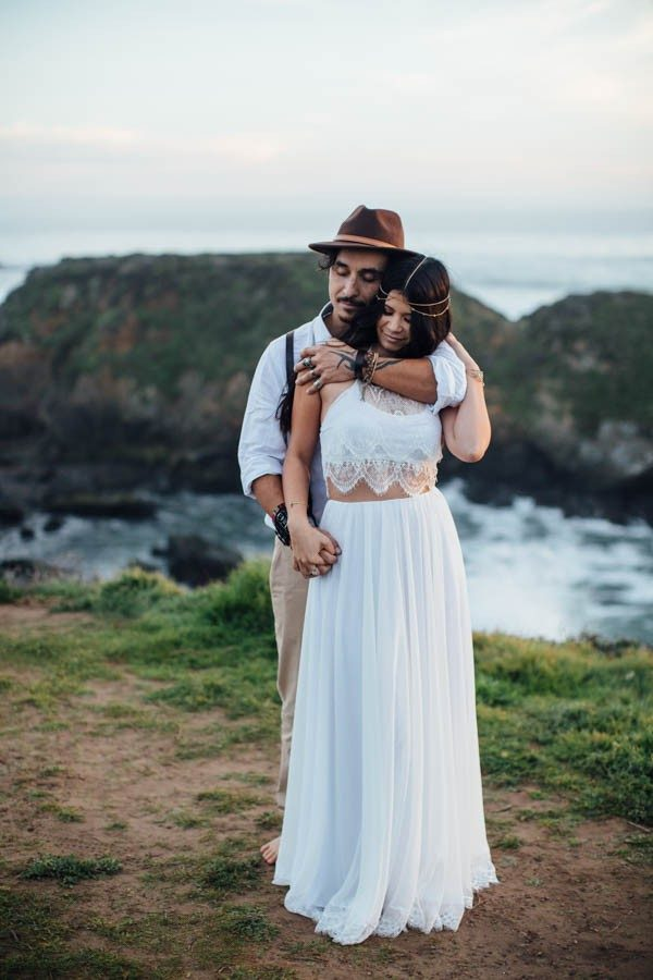 Indigo Gold Pico Creek Beach Styled Elopement 11