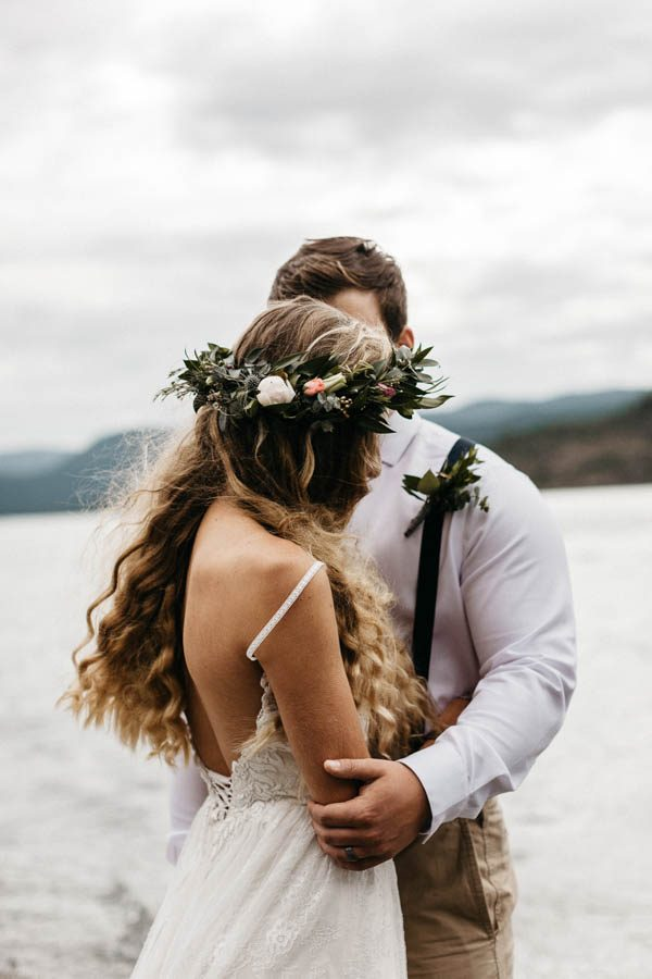 Magical Mendenhall Glacier Wedding with Waterfalls and Wildflowers Joel Allegretto-13