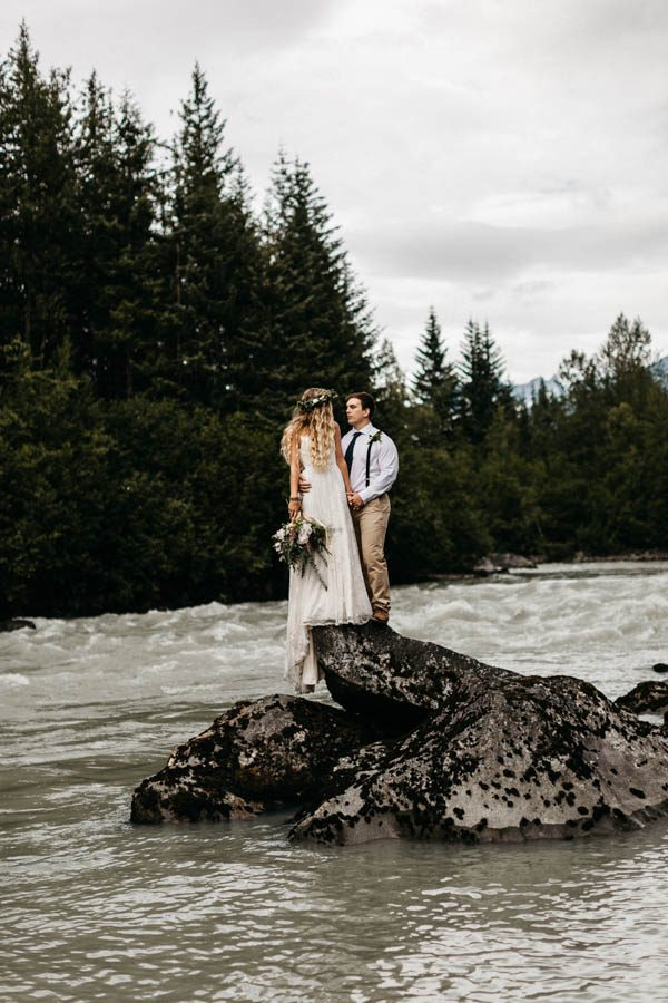 Magical Mendenhall Glacier Wedding with Waterfalls and Wildflowers Joel Allegretto-15