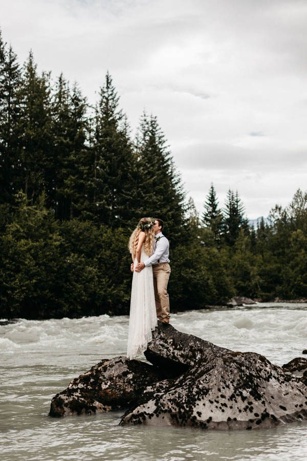 Magical Mendenhall Glacier Wedding with Waterfalls and Wildflowers Joel Allegretto-16