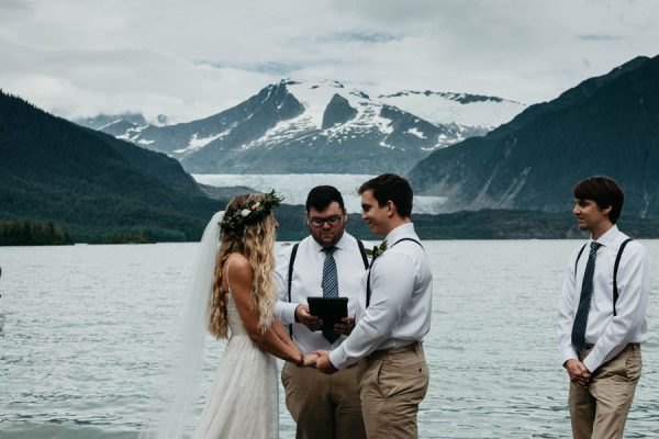 Magical Mendenhall Glacier Wedding with Waterfalls and Wildflowers Joel Allegretto-2