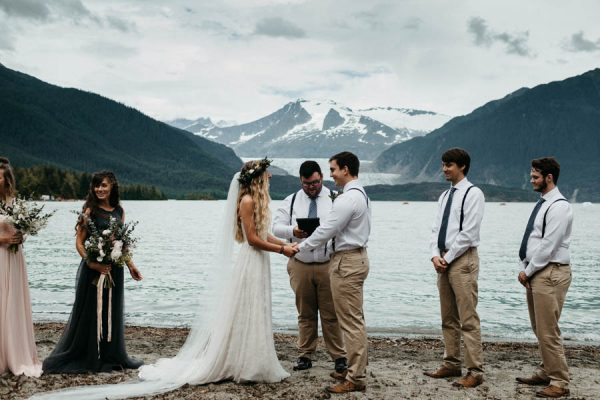 Magical Mendenhall Glacier Wedding with Waterfalls and Wildflowers Joel Allegretto-26