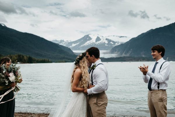 Magical Mendenhall Glacier Wedding with Waterfalls and Wildflowers Joel Allegretto-27