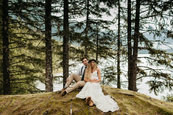 Magical Mendenhall Glacier Wedding with Waterfalls and Wildflowers Joel Allegretto-31