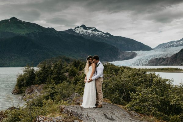 Magical Mendenhall Glacier Wedding with Waterfalls and Wildflowers Joel Allegretto-32