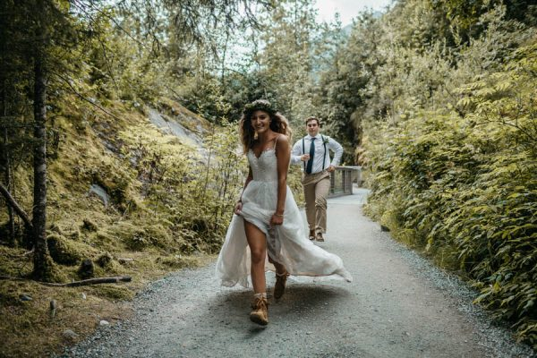 Magical Mendenhall Glacier Wedding with Waterfalls and Wildflowers Joel Allegretto-36