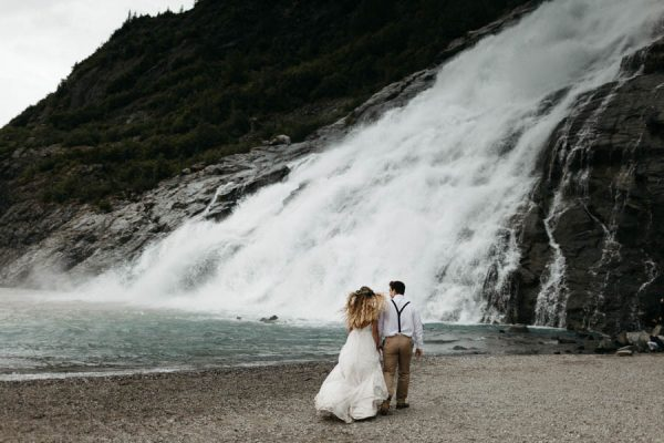 Magical Mendenhall Glacier Wedding with Waterfalls and Wildflowers Joel Allegretto-37