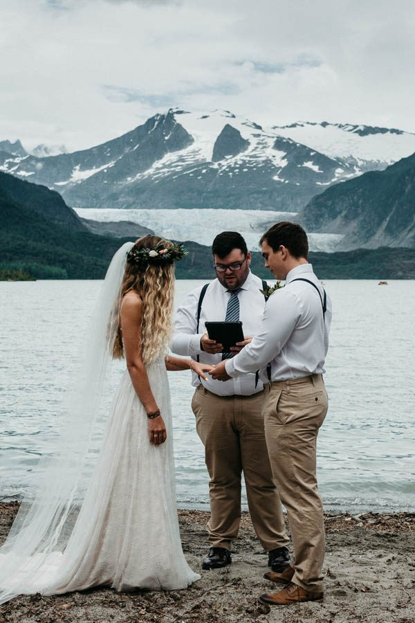 Magical Mendenhall Glacier Wedding with Waterfalls and Wildflowers Joel Allegretto-4