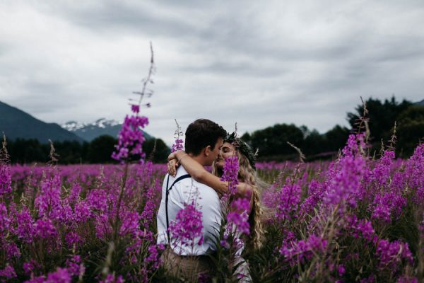 Magical Mendenhall Glacier Wedding with Waterfalls and Wildflowers Joel Allegretto-47