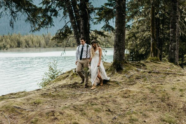 Magical Mendenhall Glacier Wedding with Waterfalls and Wildflowers Joel Allegretto-8