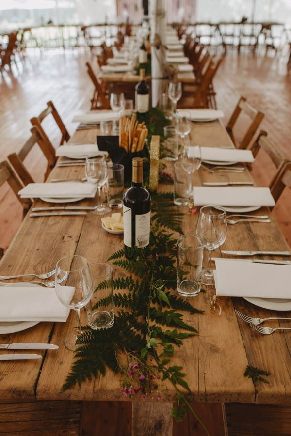 42 Stunning Banquet Tables for Your Reception | Martha ... |Farmhouse Table Wedding Reception