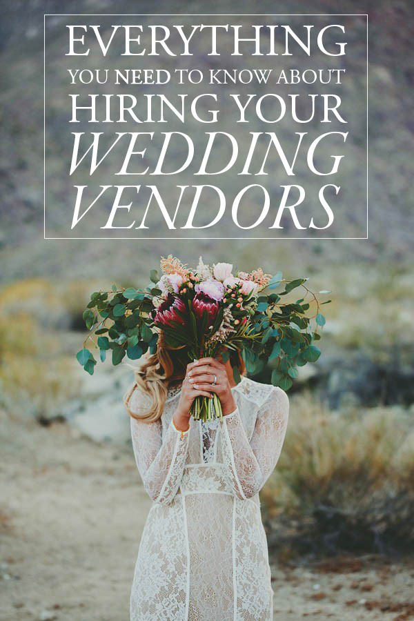 hiring your wedding vendors