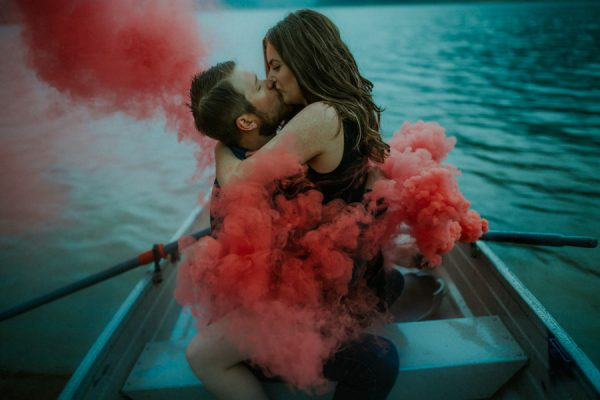 smoke-bombs-boat-two-made-jones-lake-engagement-unbelievably-romantic-3