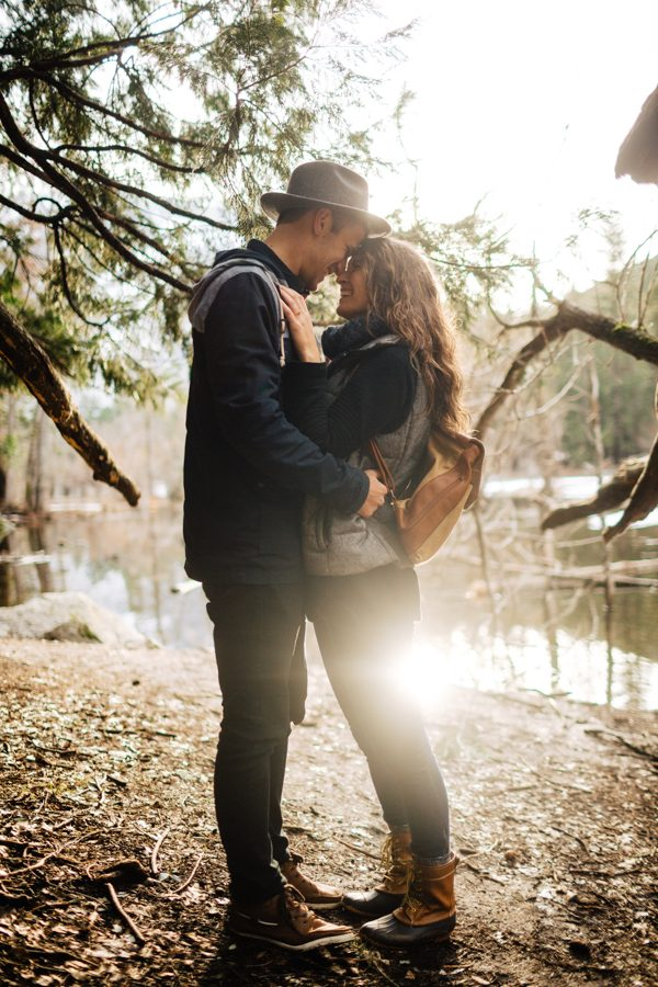 Sweet Autumn Yosemite Engagement Photos