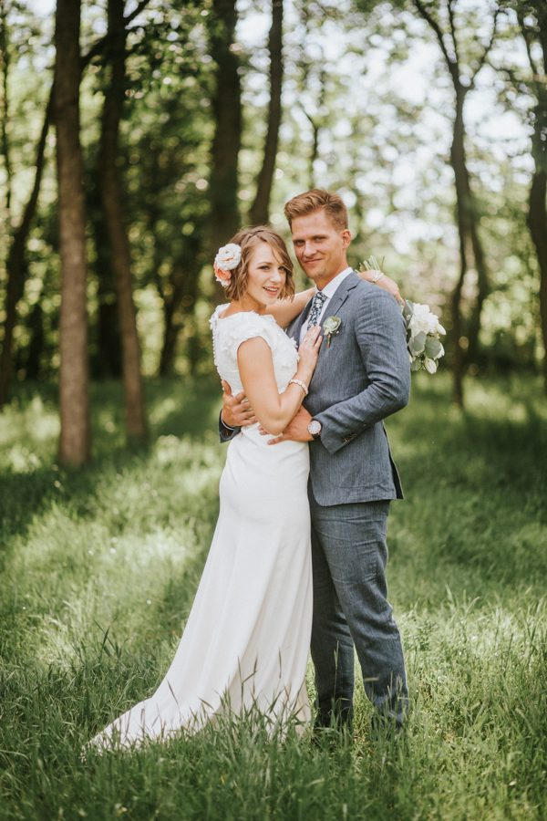 51db87a29f This Couple Achieved a Dreamy Woodland Affair for their LDS Wedding in  Denver