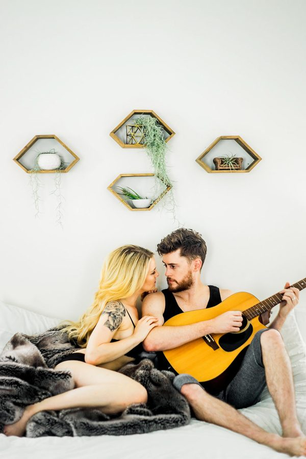 This Nashville Musician and His Sweetheart Got Comfy for a Photo Shoot at Home