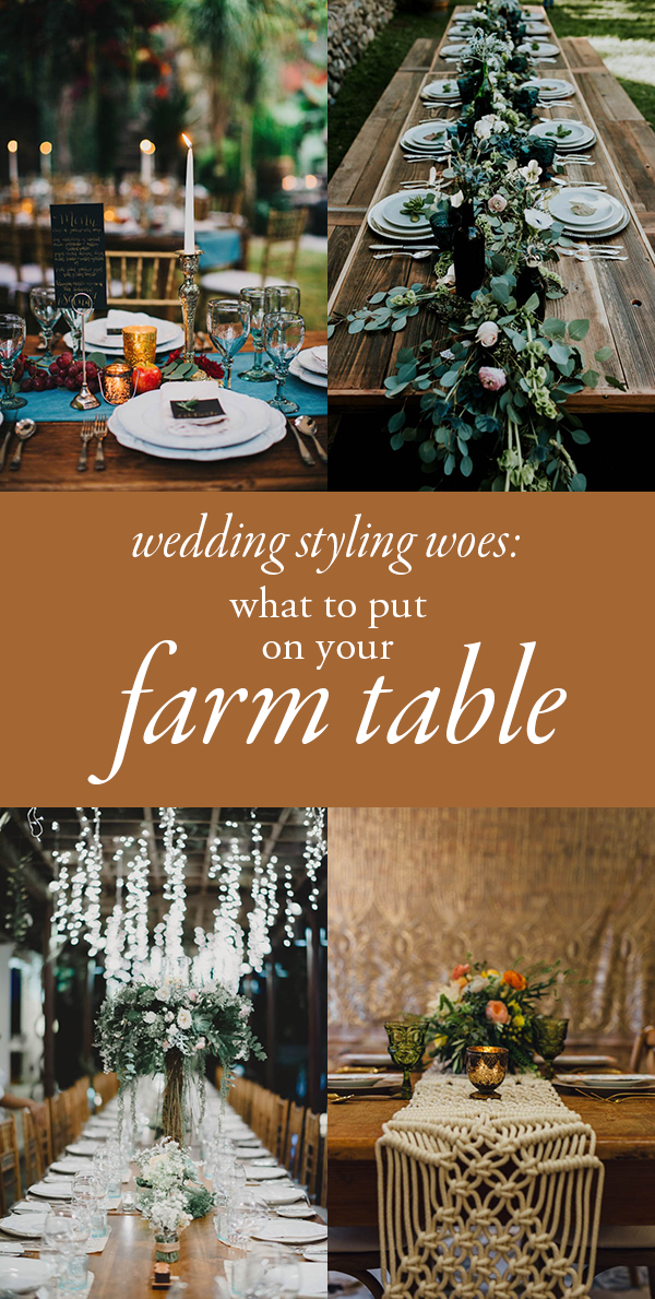 what to put on your farm table