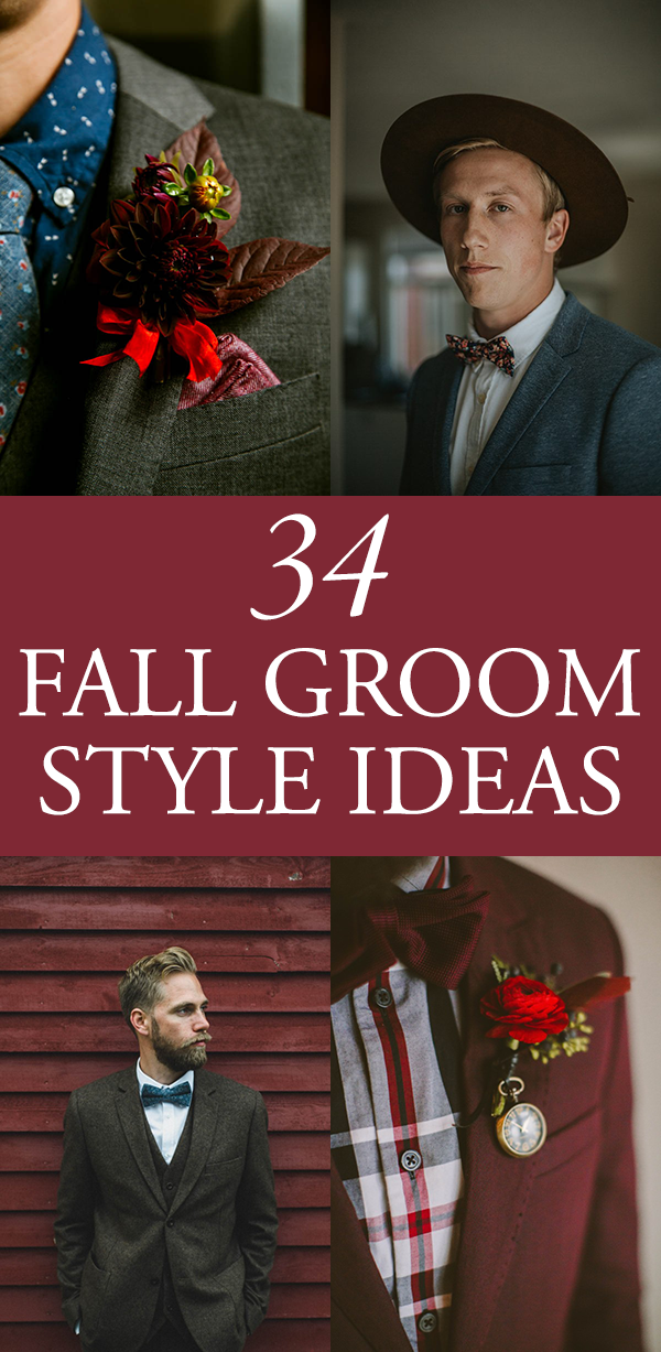 fall groom style ideas