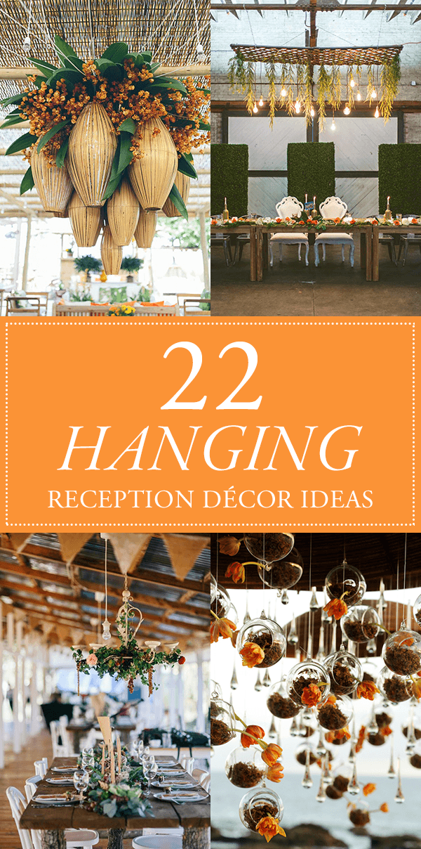 Wedding Reception Hanging Decorations : We re head over heels for these hanging reception decor