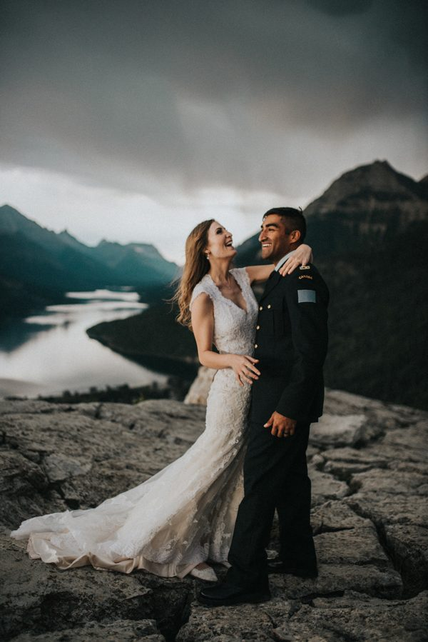 Jaw-Dropping Stormy Anniversary Shoot on Mount Crandell