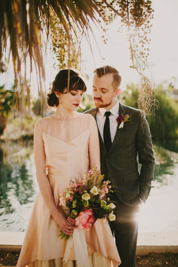 Creative blush wedding inspiration at echo park lake junebug weddings junglespirit Image collections