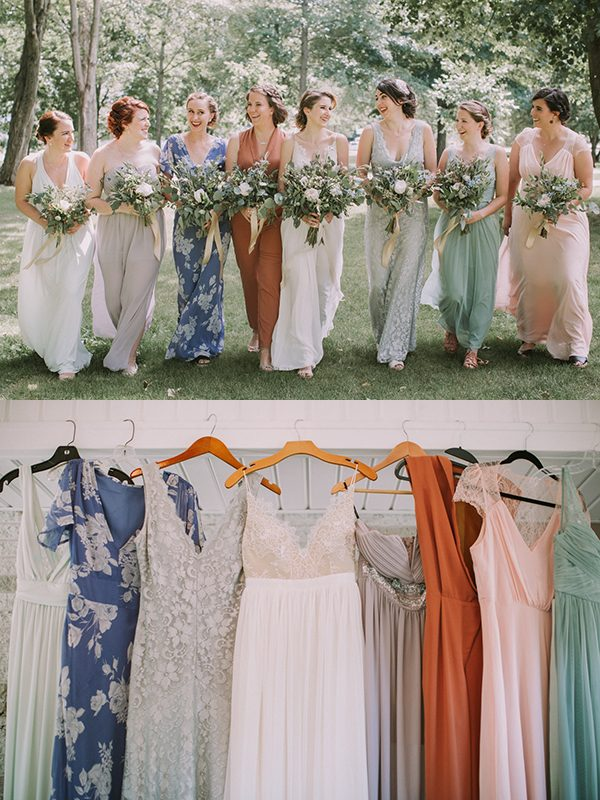 mismatched-bridesmaids-dresses-jamie-mercurio-photography