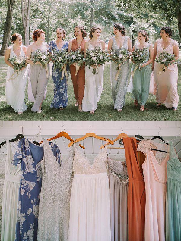 mismatched-bridesmaids-dresses-jamie-mercurio-photography