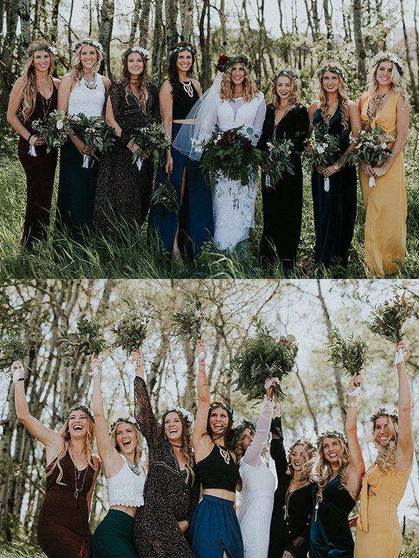 mismatched-bridesmaids-dresses-nicole-marie-photography