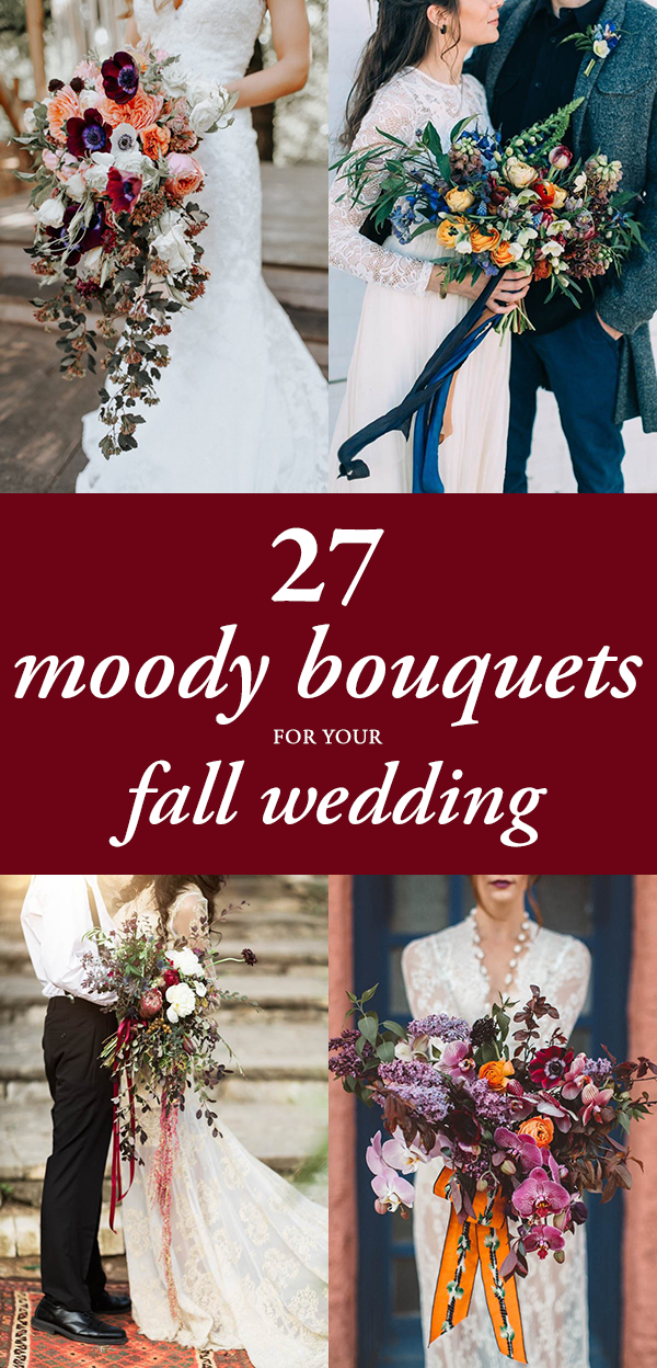 27 Moody Bouquet Ideas for Your Fall Wedding | Junebug Weddings
