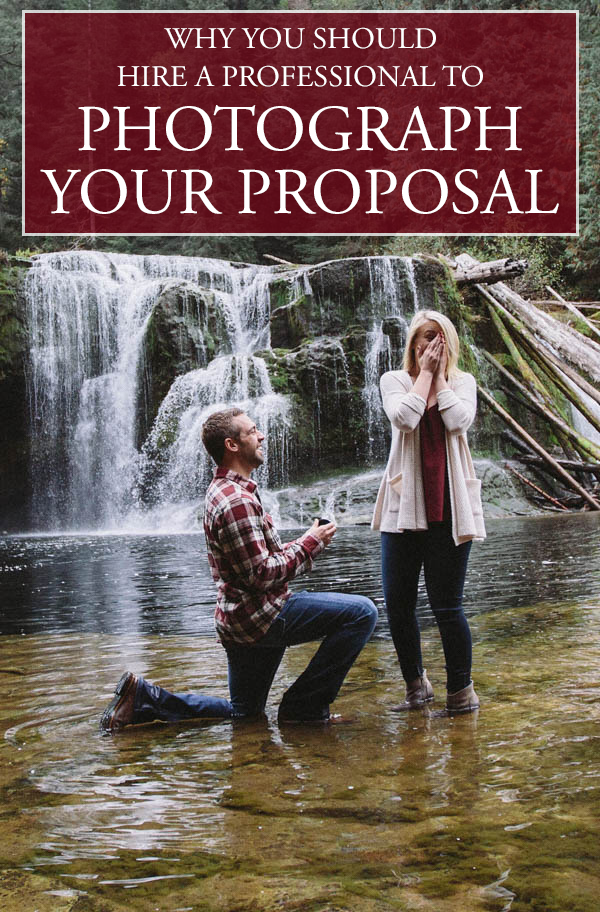 haven't considered having a professional photograph your proposal? here's why you should
