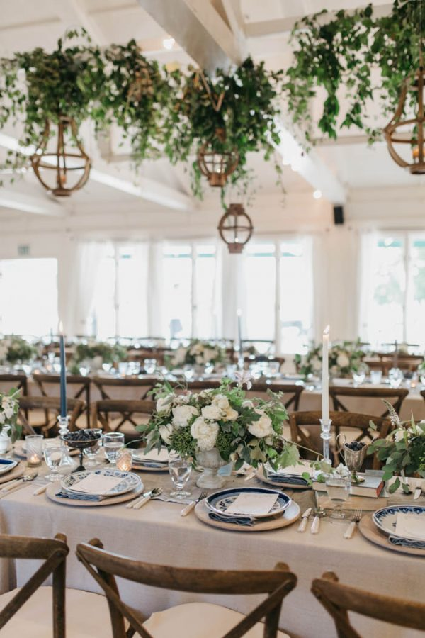 Blue And White Roche Harbor Resort Wedding On San Juan Island