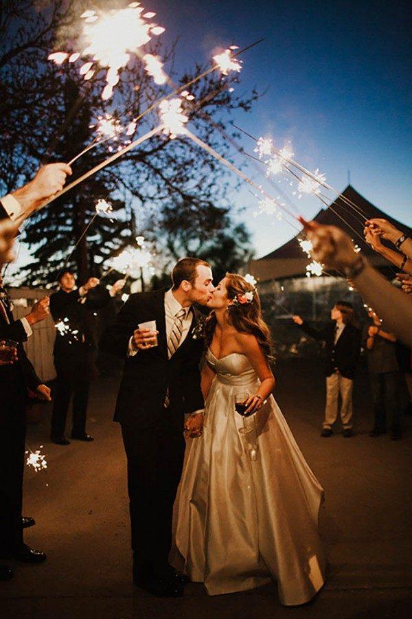 sparkler arch reception send-off