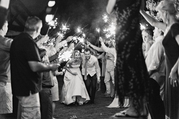 cute sparkler arch ceremony send-off