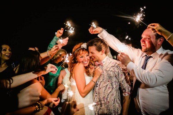 adorable sparkler reception send-off