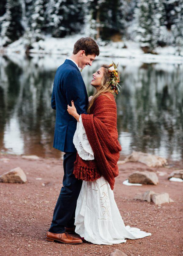 Cozy Aspen Elopement In The Maroon Bells Junebug Weddings