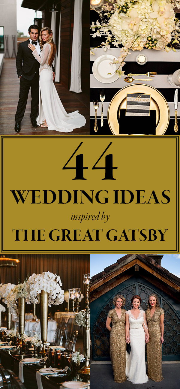These gatsby wedding ideas are perfect for your vintage glam day great gatsby wedding ideas junglespirit Image collections