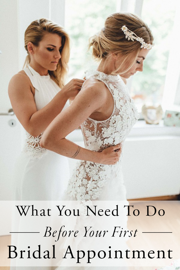 what-to-do-before-your-first-bridal-appointment