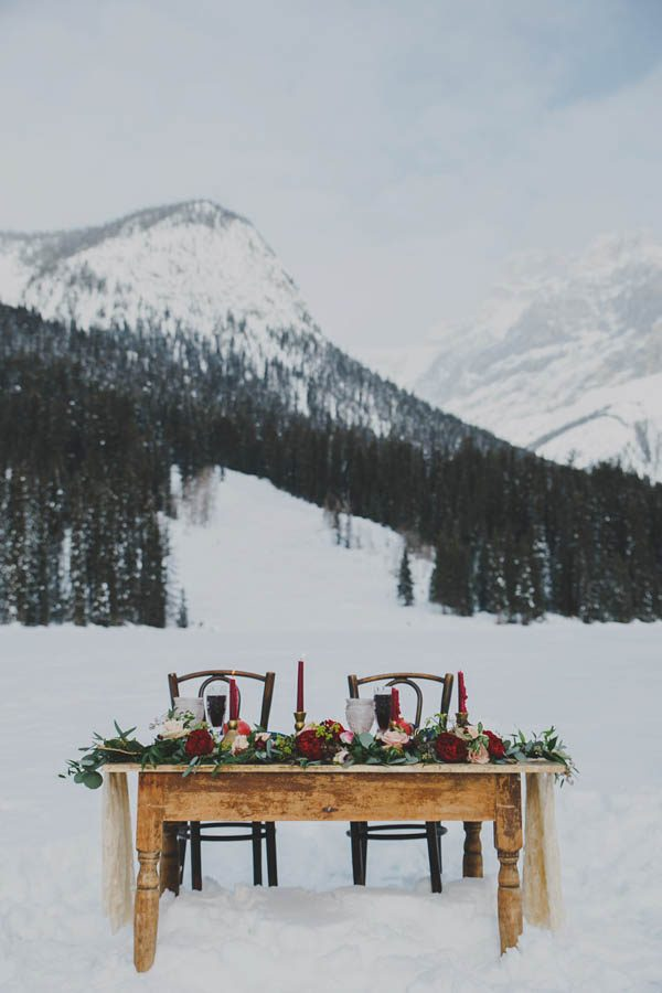 winter reception sweetheart table inspiration