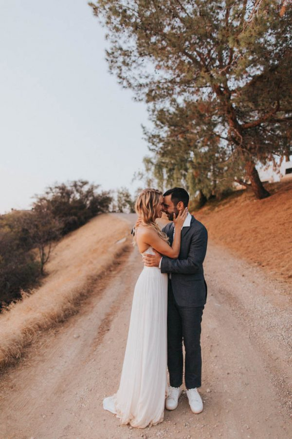 Southern California Desert Wedding Overlooking The Malibu Hills
