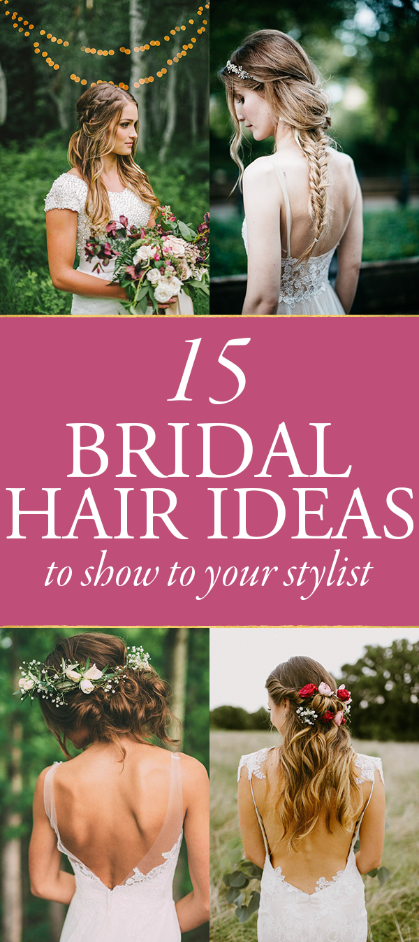 15 Bridal Hair Ideas You\'ll Want to Show Your Stylist | Junebug Weddings